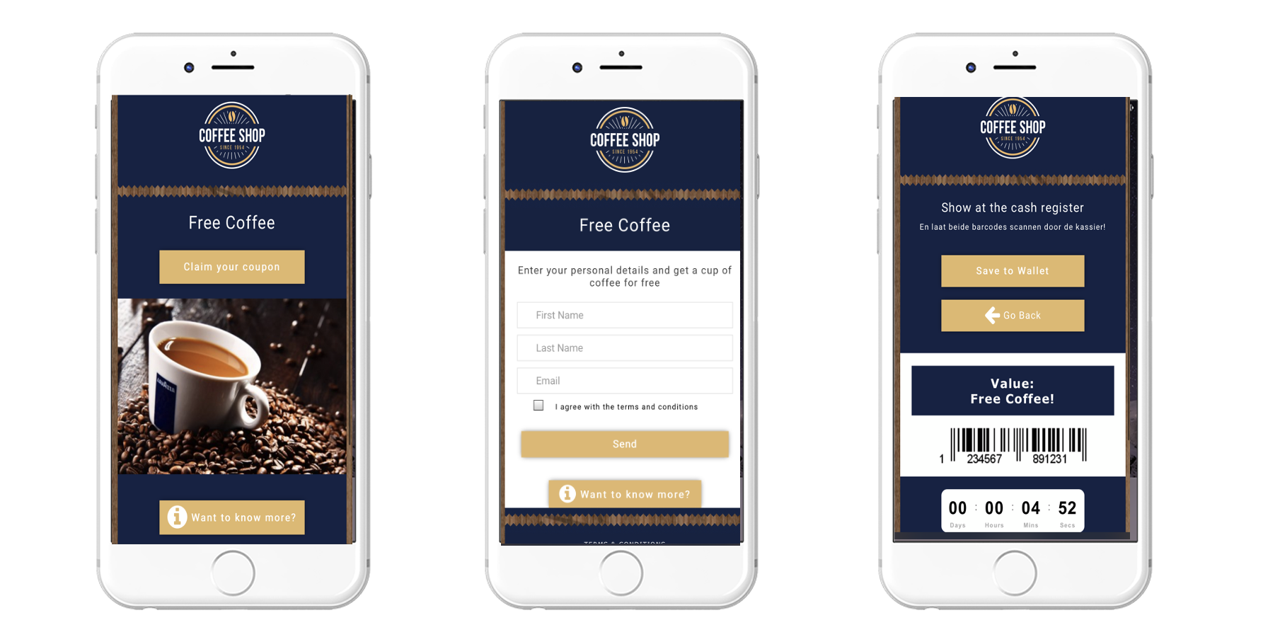 User Flow - Mobile Coupon